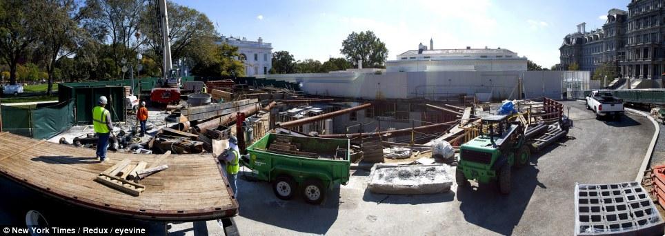 Misterioso agujero qu est construyendo obama debajo de - Bunker casa blanca ...